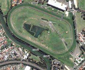 Canterbury Park track map