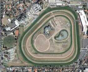 Caulfield track map