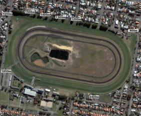 Newcastle track map